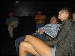 Handjob in a theatre