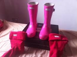 hunter boots size 6 pink hunter wellies with socks size 6 uber surf