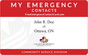 Emergency Card Template Free Emergency Contact Card