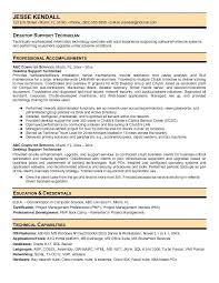 Desktop Support Technician Resume Samples Resumes Breathelightco Gorgeous Desktop Support Resume