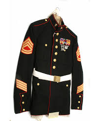 Usmc Dress Blues Size Chart Lot 313 Ww2 Usmc Dress Blues Uniform Set Belt