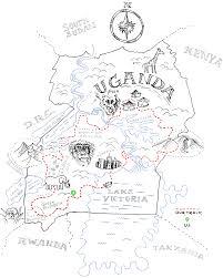 Trans uganda bikepacking map