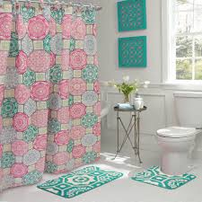 pink shower curtains. Bath Fusion Addison 30 In. L X 18 W 15-Piece Pink Shower Curtains