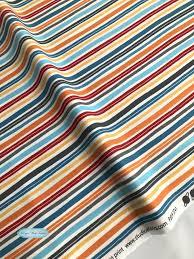 Stripe Designer Fabric Studio E Fabrics Space Adventure Mini Stripe Cotton