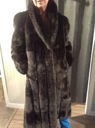 full length faux fur coat size l