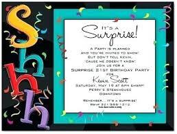 Kids Birthday Invitations Girls Boys Sweet Surprise Party