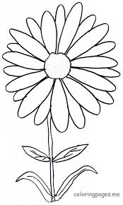 Small Picture Daisy Flower Coloring Pages Printable Flower Coloring Pages
