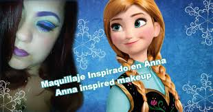 disney s frozen princess anna makeup tutorial cutcrease maquillaje inspirado en anna de disney you