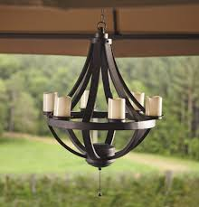 home design clever design battery operated outdoor chandelier living home outdoors led gazebo from excellent