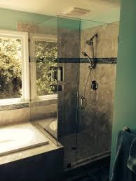 shower remodel glass tiles. Contemporary Shower Bathroom Remodeling In Charlotte Glass Shower On Shower Remodel Glass Tiles