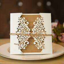 Elegant Invitation Cards Formal White Laser Cut Wedding Invitation Cards With Band Swws009 Stylishwedd