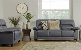 kenton small grey leather sofa sofas couch settee suite suites range grey leather sofa t82