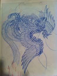 Drawings Of Phoenix Japanese Phoenix Drawing At Getdrawings Com Free For Personal Use