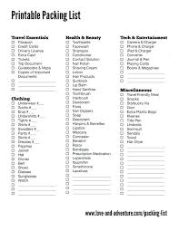 Travel Checklist Template Vacation Packing List 0 1 Iinan Co