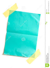 Piece Of Blank Colored Paper Stock Photo Image 2786130