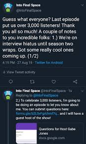 Last Interview Questions Into Final Space Podcast Interview Questions With Host Gabe