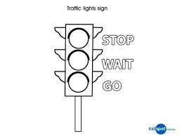 Traffic Light Coloring Page And - glum.me