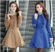 free slim fit long woolen design women s wool coat outerwear plus size peacoat