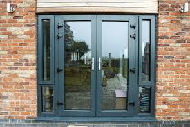 aluminium french doors in ral7016