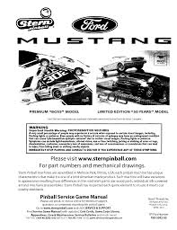 Pinball Coil Resistance Chart Mustang Le Manual Mustang Le Manual Manualzz Com