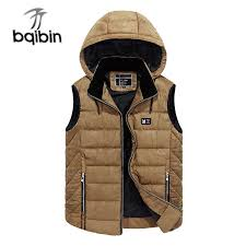 <b>Men's</b> Sleeveless <b>Cotton Jacket</b> Winter Hooded <b>Thicken</b> Vests ...