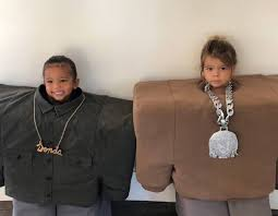 Saint West and Reign Disick