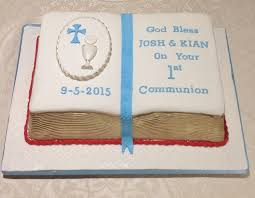 Twins First Communion Book Cake Cakecentralcom
