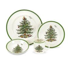 Spode Christmas Tree Dinnerware 4pc Place Setting