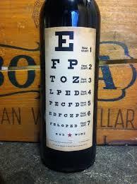 Eye Chart Wine Optometry Office Optometry Eye Chart
