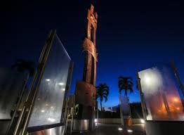 palm beach gardens teen reflects on impact of 9 11 in winning the palm beach gardens 9 11 memorial sits in the predawn darkness friday