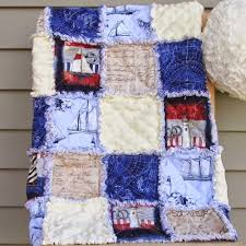 35+ Snuggly Free Rag Quilt Patterns | FaveQuilts.com & Nautical Adventures Rag Quilt Pattern Adamdwight.com