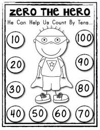 best math helper ideas math fractions math  zero the hero poster and student math helper count by tens
