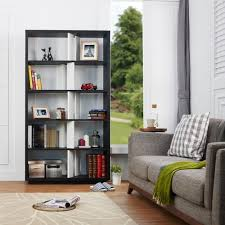 open back bookshelves. Modren Open Bolyne 2 Tone Open Back Black U0026 White Display Case Intended Bookshelves P