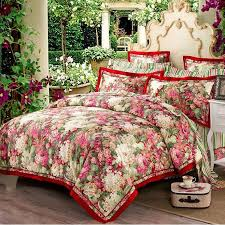 royal garden luxury queen duvet cover set