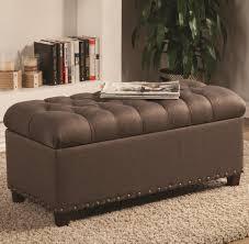 brown storage bench. Interesting Bench Brown Fabric Storage Bench Inside I