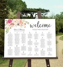 Self Editing Seating Chart Template Printable Wedding