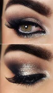add a little glitter to your smoky eye makeup for a fun weekend twist