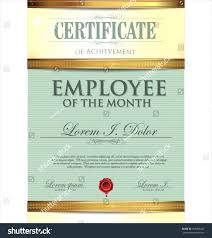 Star Of The Month Certificate Template Template Star Of The Month Certificate Template Employee Templates