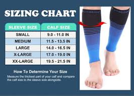 Doc Miller Size Chart Premium Calf Compression Sleeve 20 30 Mmhg Black Brown Tan By Doc Miller
