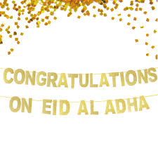 Congratulations Poster Us 9 17 46 Off Gold Glitter Eid Mubarak Banner Sparkly Festival Banner Congratulations On Eid Al Adha Banner Muslim New Year Party Banner In