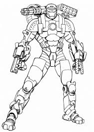 Small Picture Iron Man War Machine Type Coloring Page NetArt