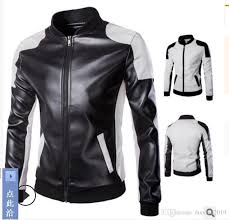 2019 brand new m 5xl men s jackets collar outerwear black white colour super large leather coat