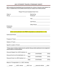 Itinerary Sheet 16 Printable Travel Itinerary Planner Forms And Templates