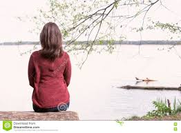Image result for girl infront of lake