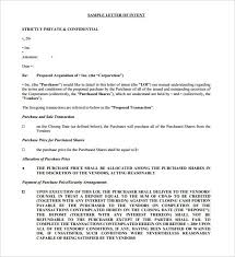 9 purchase letter of intent free