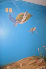 Ocean Mural in Kids room