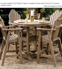 amish gardens counter height round dining tables