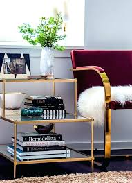 gold and glass side table glass coffee table decor for appealing best glass coffee tables ideas