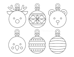 To print the picture to color with crayons, simply save it, then print it, before coloring online. Printable Christmas Ornaments Coloring Pages And Templates