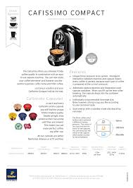 A sample of part of a manual will soon be completed. Cafissimo Compact Manualzz